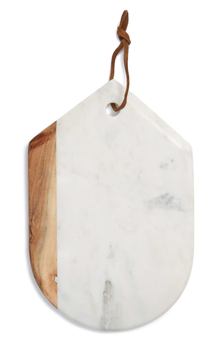 THIRSTYSTONE Marble & Wood Oval Serving Board, Main, color, 200