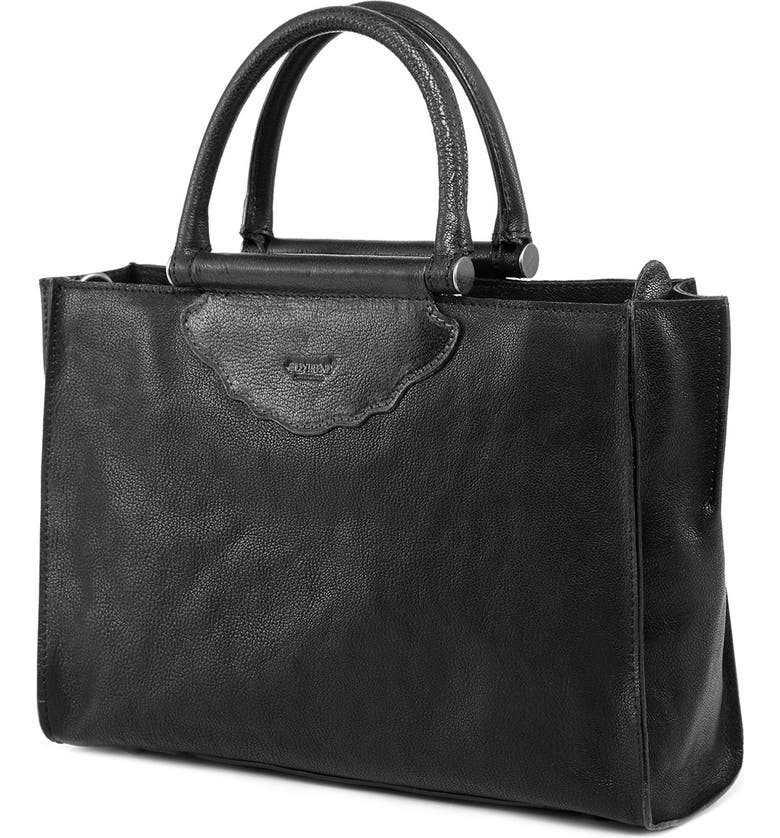 OLD TREND Leather Tote, Main, color, BLACK