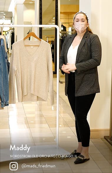 High/Low V-Neck Sweater, sales video thumbnail