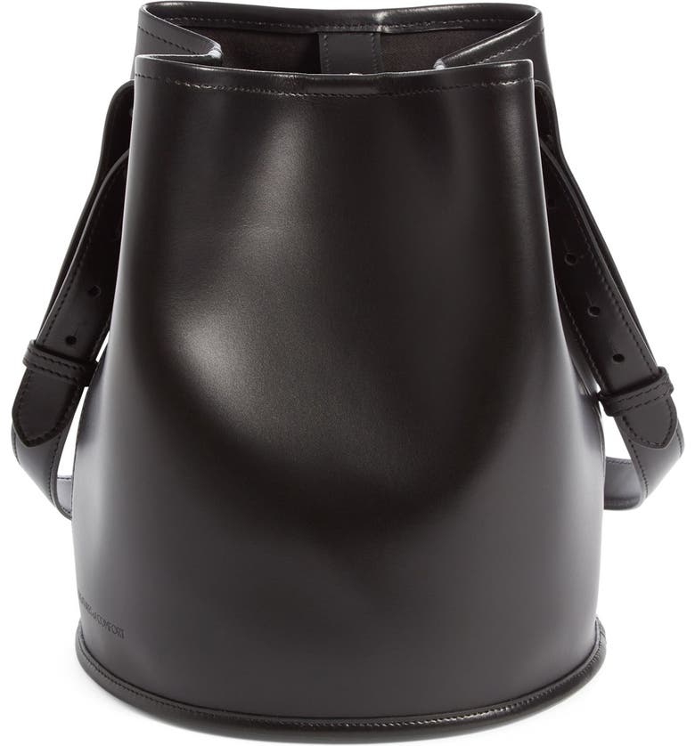 CREATURES OF COMFORT Small Leather Bucket Bag, Main, color, 001