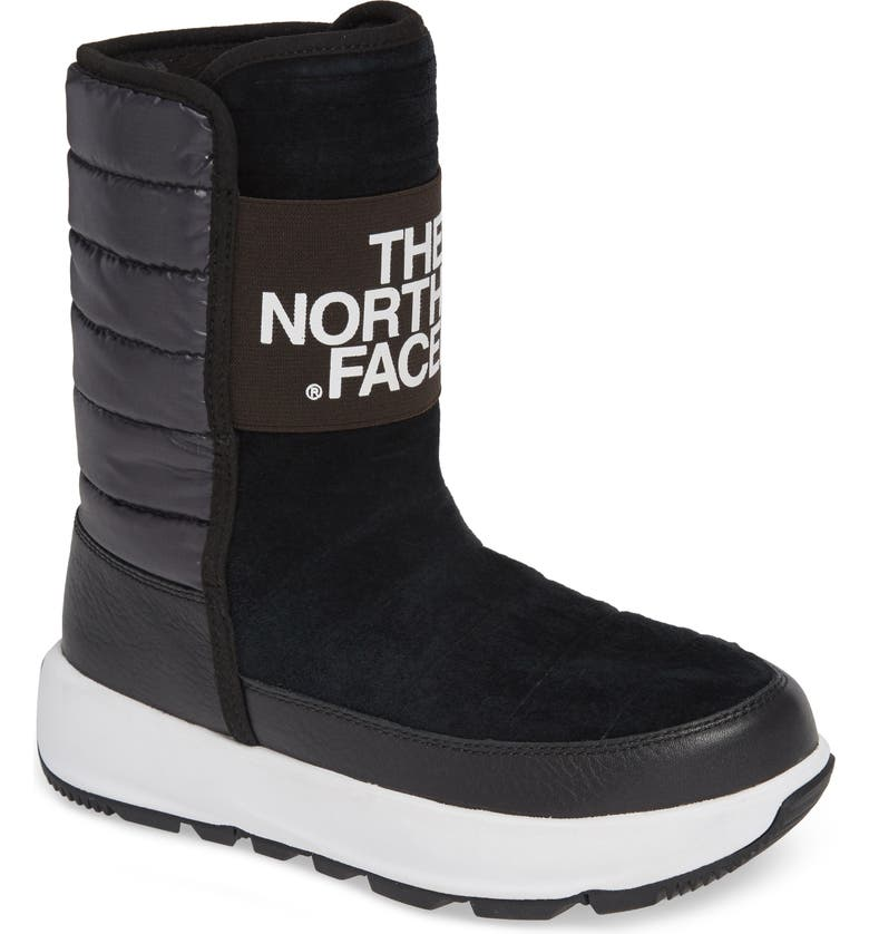 THE NORTH FACE Ozone Park Waterproof Boot, Main, color, BLACK/ WHITE