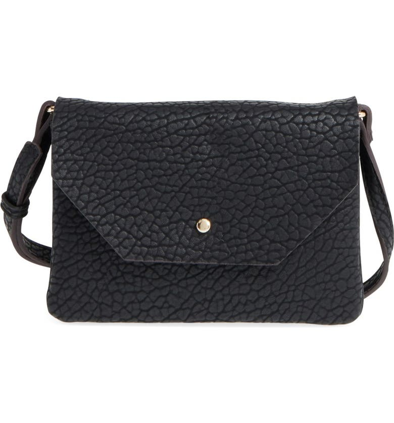 STREET LEVEL Faux Leather Crossbody Bag, Main, color, 001