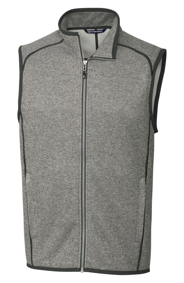 CUTTER & BUCK Mainsail Zip Vest, Main, color, POLISHED HEATHER