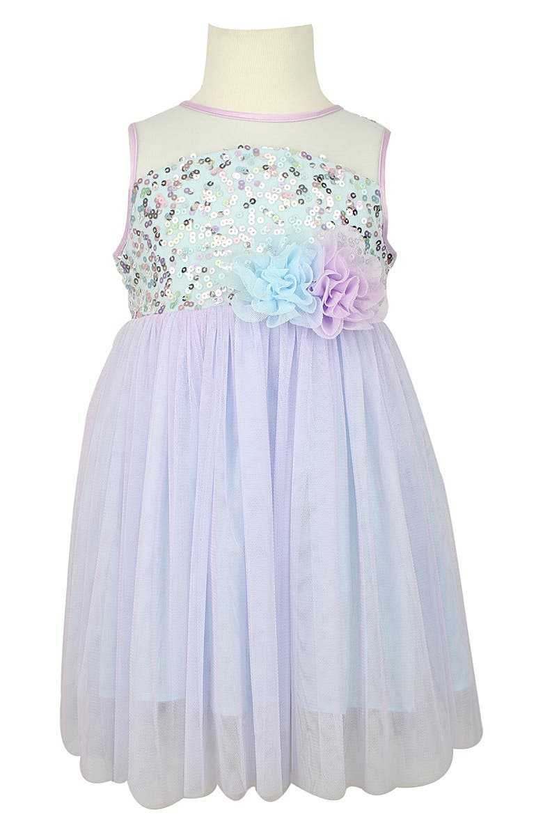 POPATU Sequin Illusion Tulle Party Dress, Main, color, 450