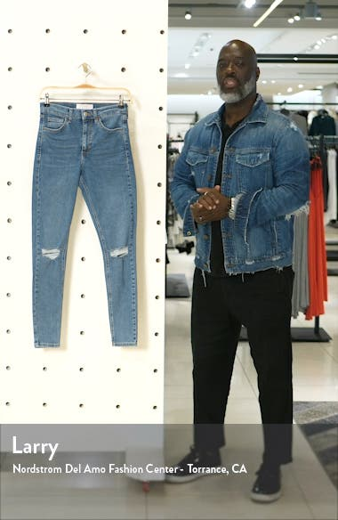 Jamie Ripped Ankle Skinny Jeans, sales video thumbnail