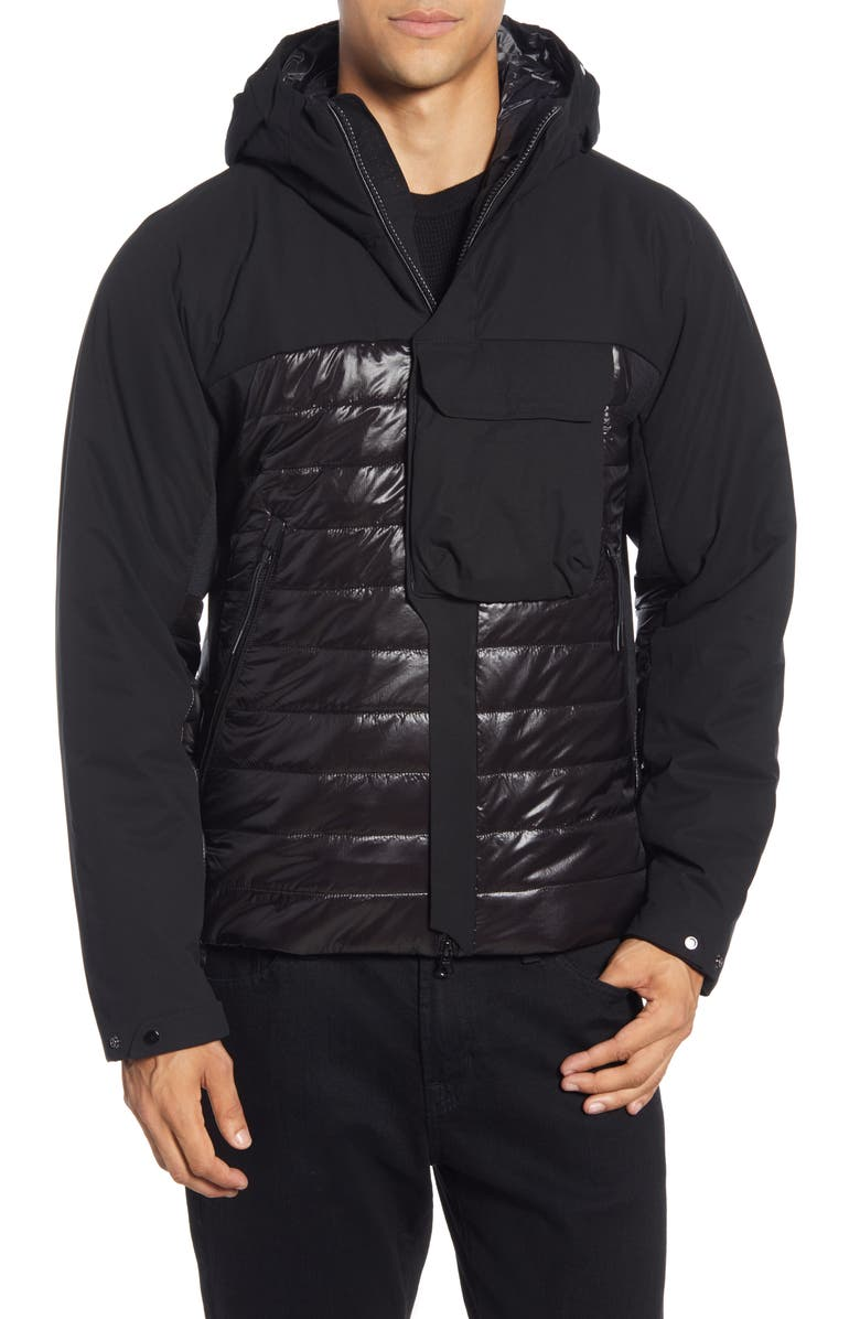 C.P. COMPANY Water-Resistant Hooded Nylon Jacket, Main, color, 001