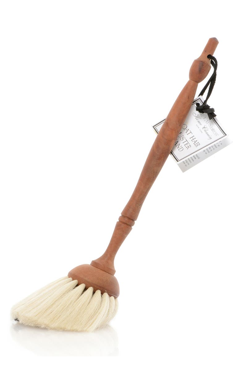 THE LAUNDRESS Goat Hair Duster, Main, color, WHITE/ WOOD HANDLE