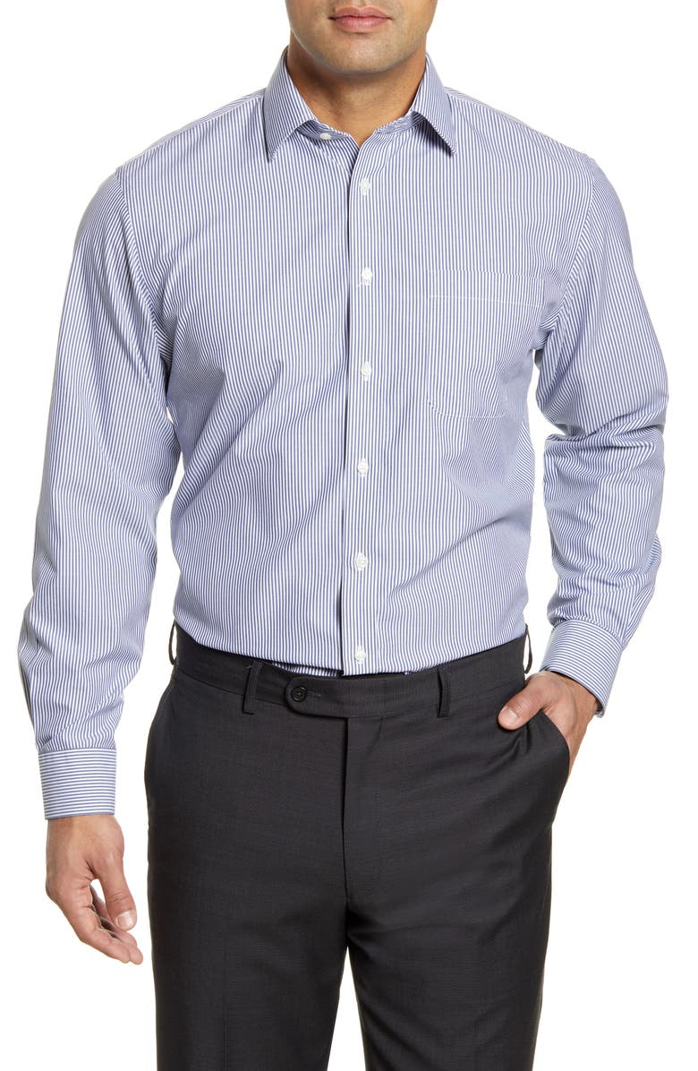 NORDSTROM Men's Shop Smartcare Traditional Fit Stripe Dress Shirt, Main, color, 401