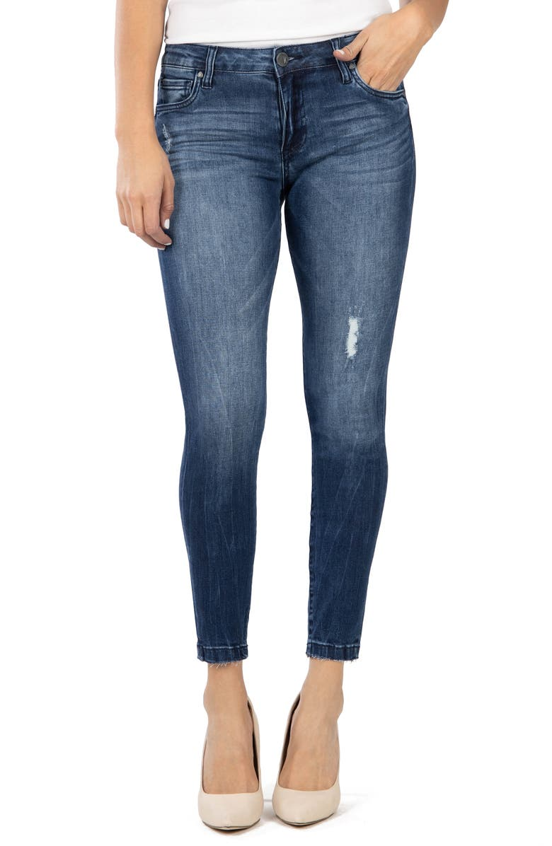 KUT FROM THE KLOTH Donna Ankle Skinny Jeans, Main, color, 400