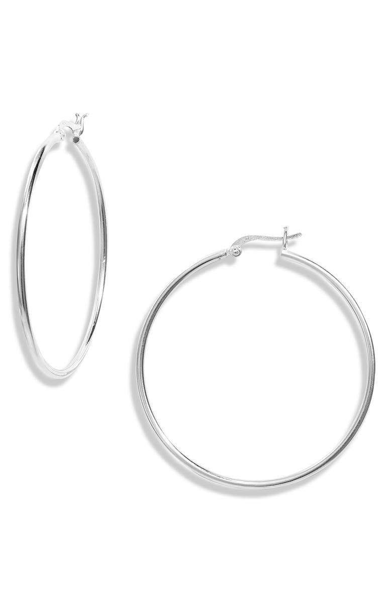 ARGENTO VIVO STERLING SILVER Argentino Vivo Sterling Silver Essential Hoop Earrings, Main, color, 040