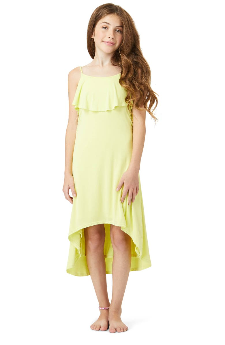 HABITUAL Kids' High/Low Cover-Up Dress, Main, color, YELLOW