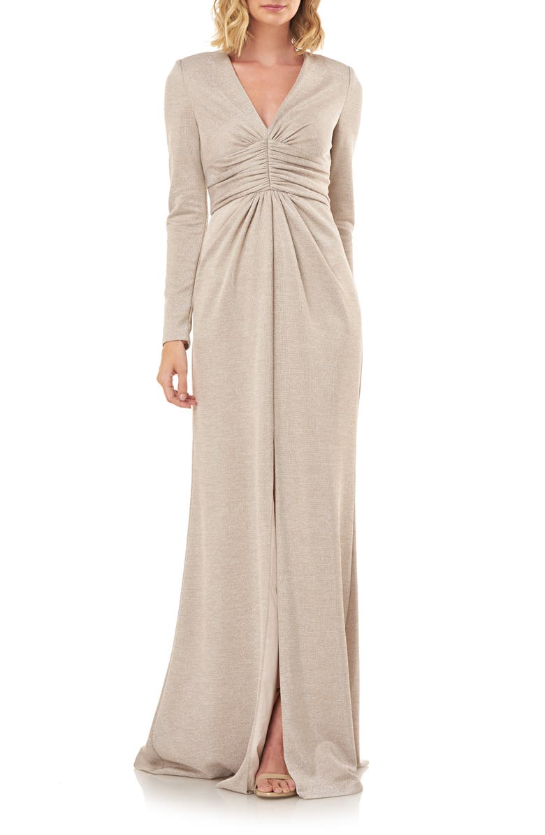 KAY UNGER Kayla Long Sleeve Evening Gown, Main, color, 270