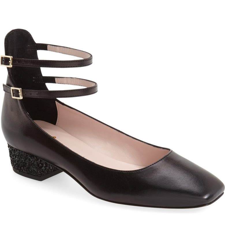 KATE SPADE NEW YORK 'marcellina' ankle strap pump, Main, color, 001