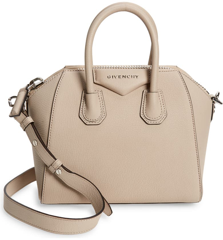 GIVENCHY Mini Antigona Sugar Leather Satchel, Main, color, NO_COLOR