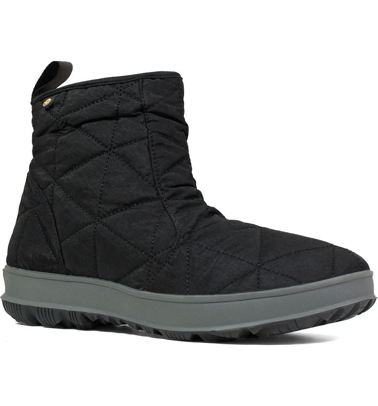 BOGS Snowday Waterproof Quilted Snow Boot, Main, color, 001