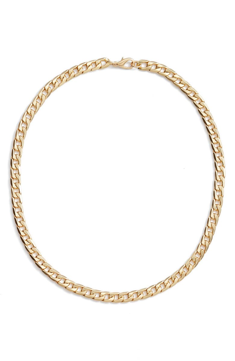 NORDSTROM Curb Chain Necklace, Main, color, GOLD