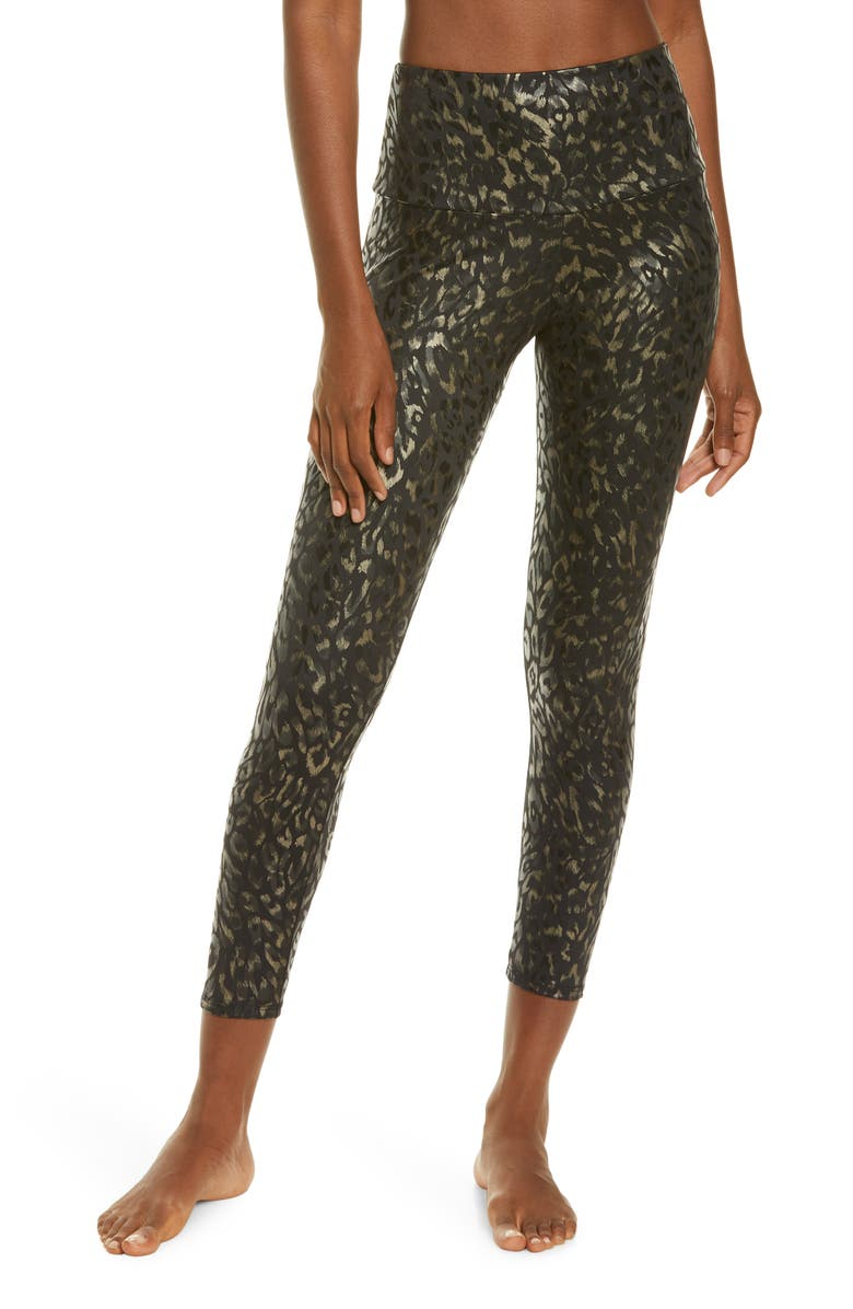 ONZIE Animal Foil High Waist Leggings, Main, color, REGAL ANIMAL