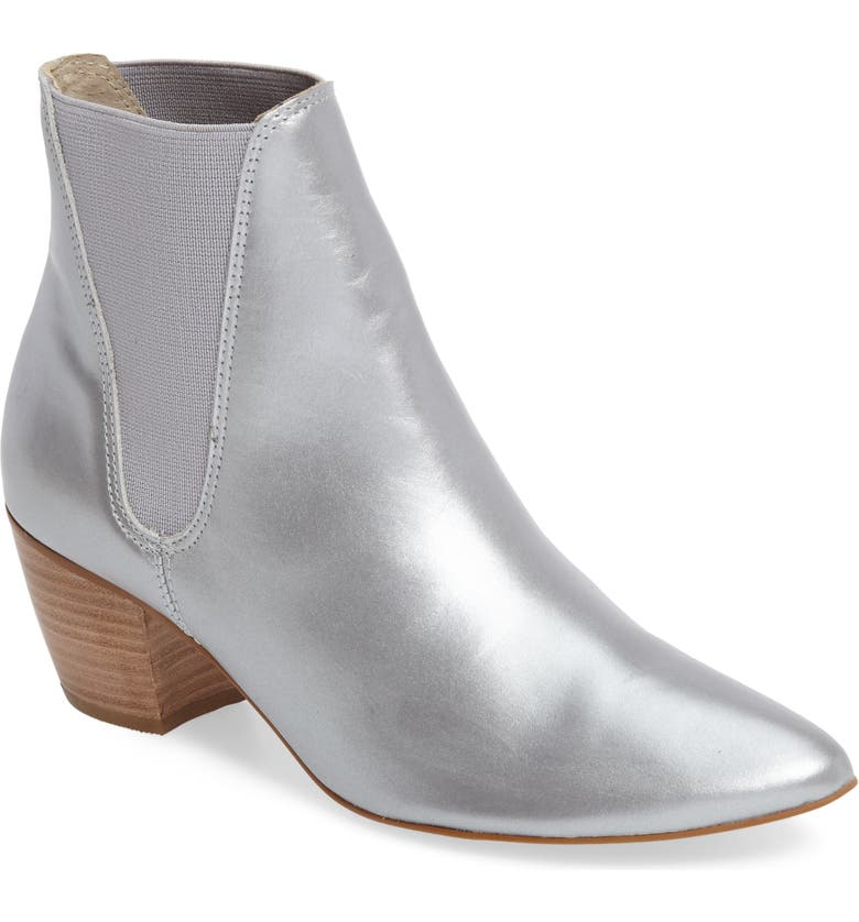 AMUSE SOCIETY X MATISSE Sass Bootie, Main, color, SILVER LEATHER