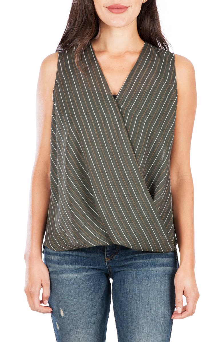KUT FROM THE KLOTH Calla Sleeveless Wrap Front Top, Main, color, 317