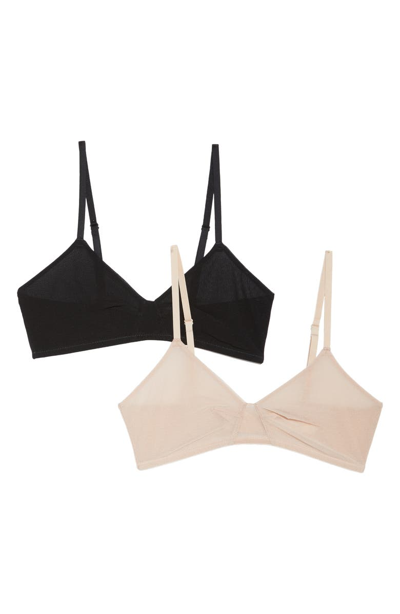 ON GOSSAMER Next to Nothing 2-Pack Bralettes, Main, color, 200