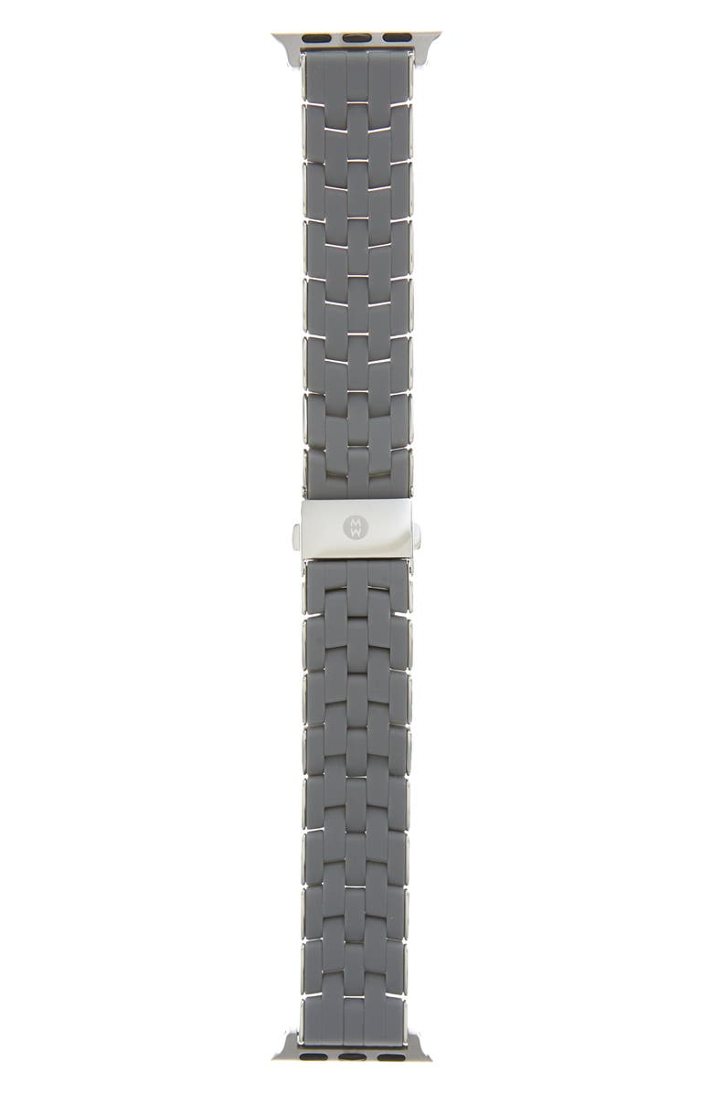 MICHELE Silicone Wrapped Apple Watch<sup>®</sup> Bracelet, Main, color, SLATE