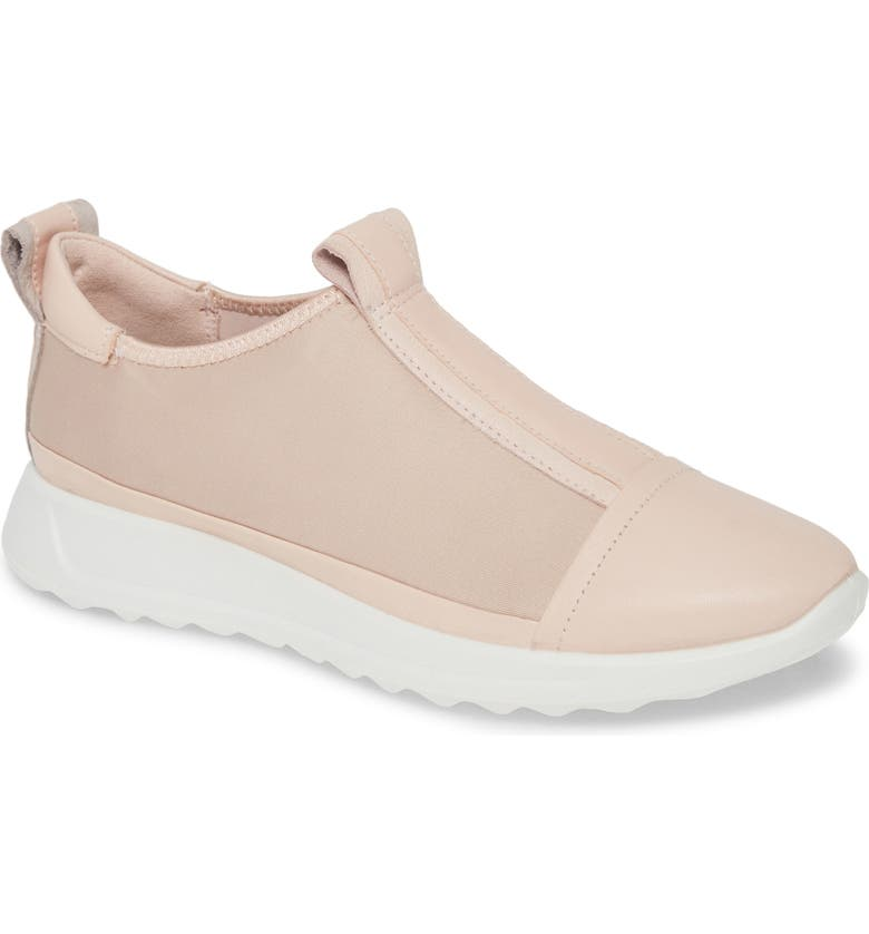 ECCO Flexure Sneaker, Main, color, ROSE DUST LEATHER