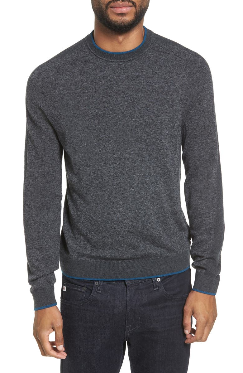 TED BAKER LONDON Norpol Crewneck Sweater, Main, color, 010
