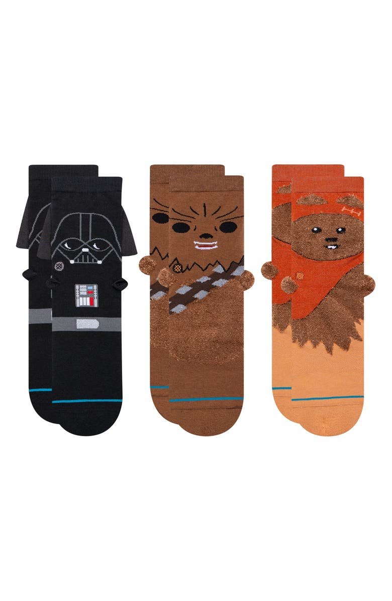 STANCE Assorted 3-Pack 3D Star Wars Crew Socks, Main, color, MULTI