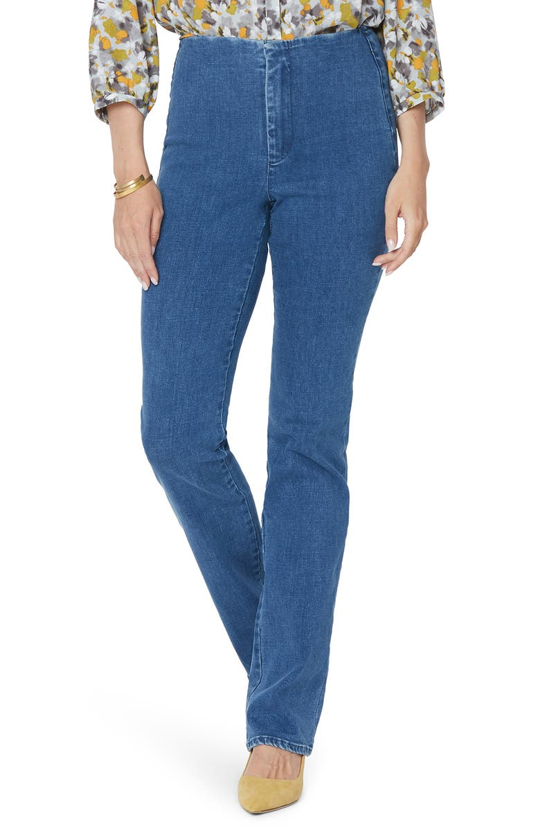 NYDJ Marilyn Flat Front Slim Straight Leg Jeans, Main, color, TRANQUIL