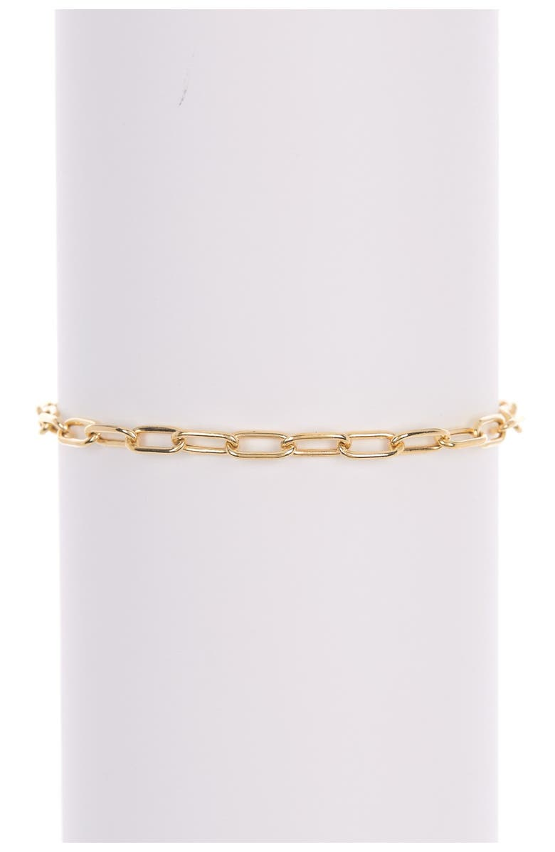 ADORNIA Paperclip Chain Link Bracelet, Main, color, YELLOW