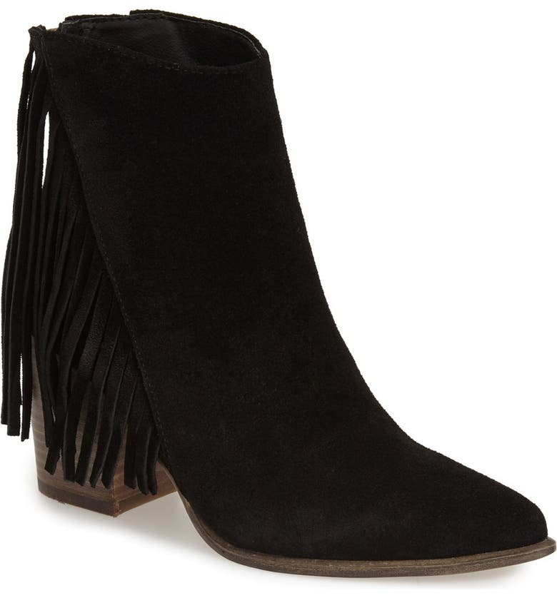 STEVE MADDEN 'Countryy' PointyToeBootie, Main, color, BLACK SUEDE