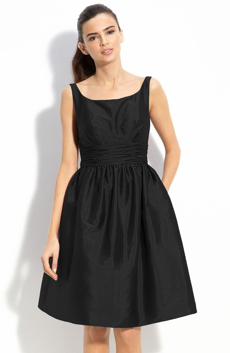ELIZA J Sleeveless Taffeta Dress, Main, color, 001