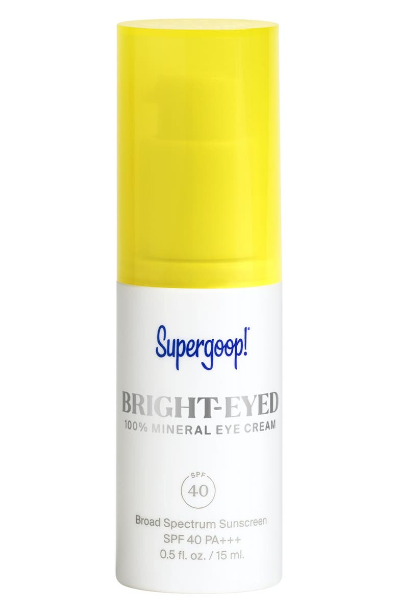 SUPERGOOP!<SUP>®</SUP> Supergoop! Bright-Eyed Mineral Eye Cream Broad Spectrum SPF 40 Sunscreen, Main, color, NO COLOR