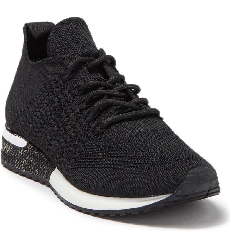 14TH AND UNION Rorie Knit Sneaker, Main, color, BLACK KNIT