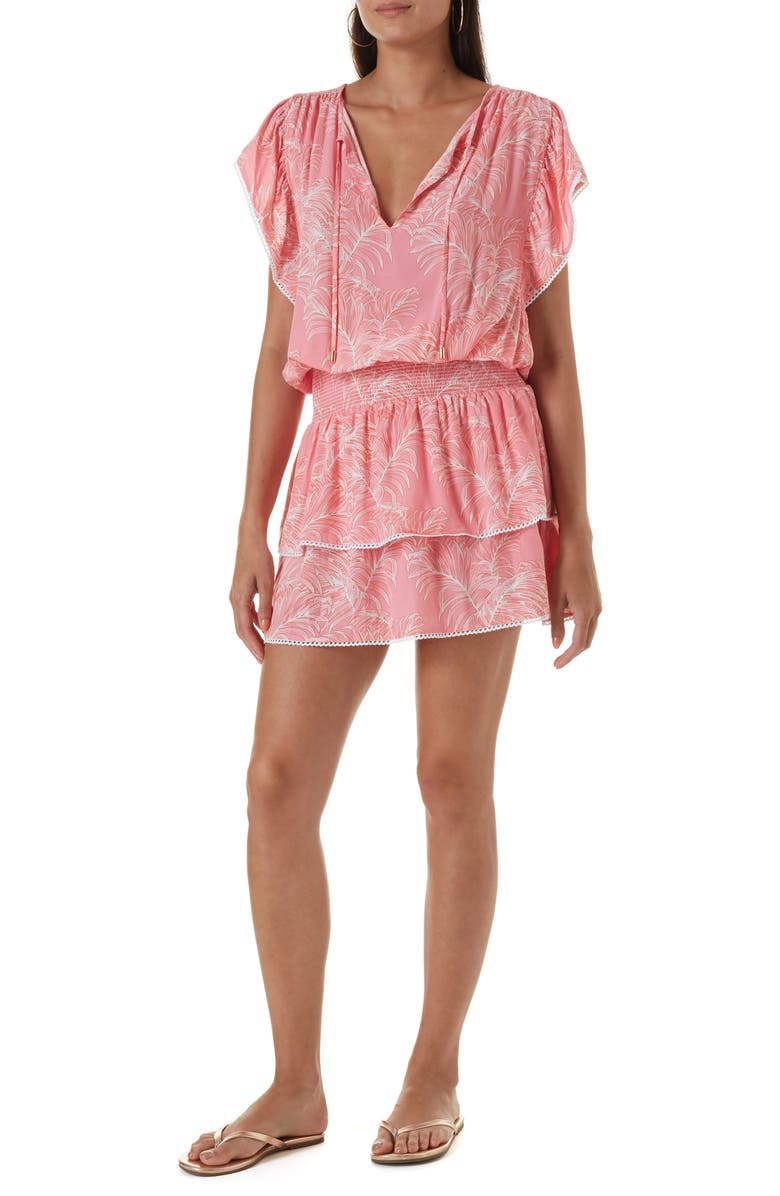 MELISSA ODABASH Keri Cover-Up Dress, Main, color, TROPICAL CORAL