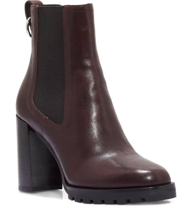 PAIGE Natasha Water Resistant Chelsea Boot, Main, color, OXBLOOD