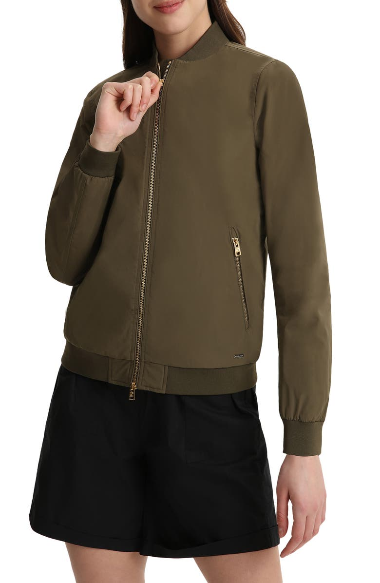 WOOLRICH Water Repellent Bomber Jacket, Main, color, ARMY OLIVE