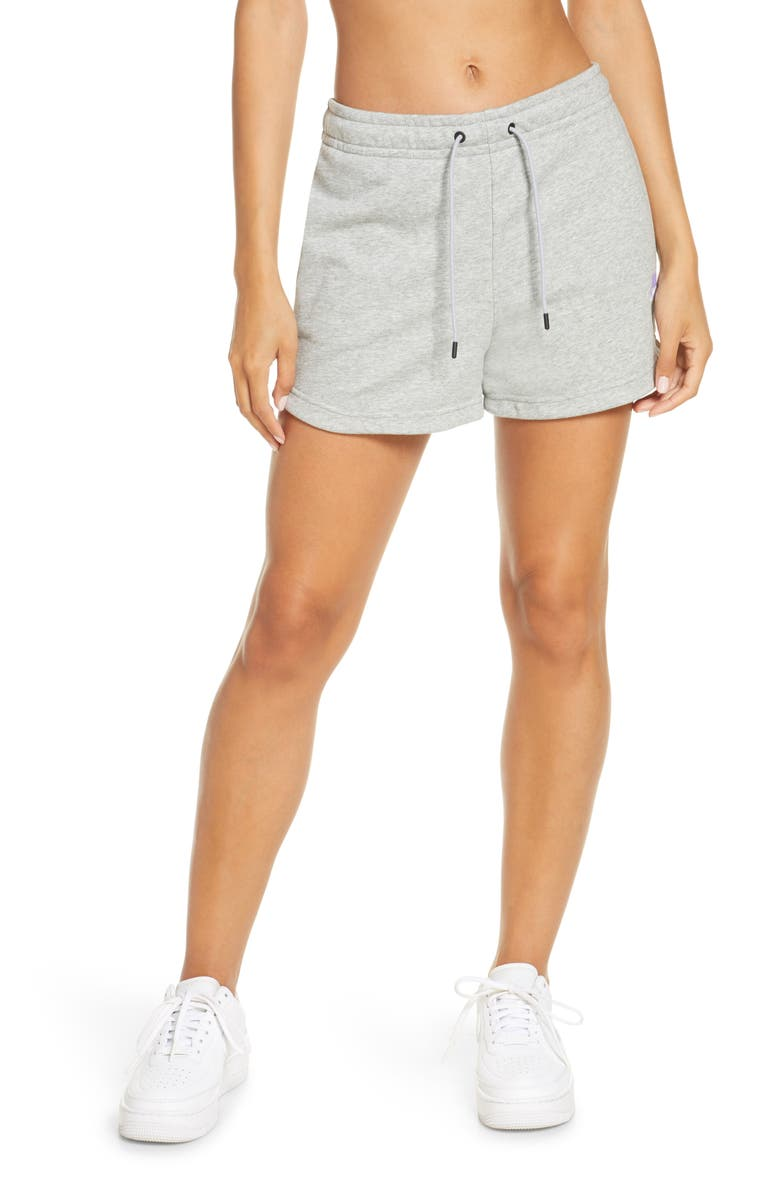 NIKE Essential Shorts, Main, color, HEATHER/ MATTE SILVER/ WHITE