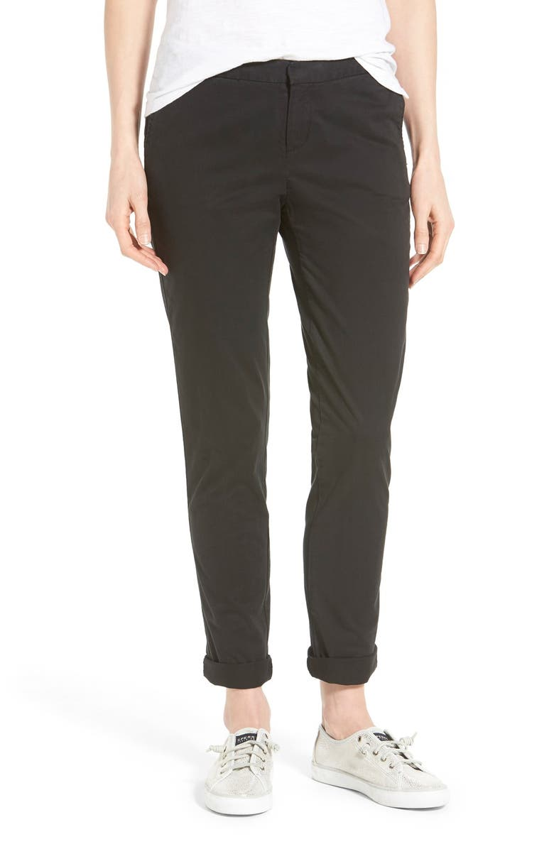 CASLON<SUP>®</SUP> Chino Ankle Pants, Main, color, 001