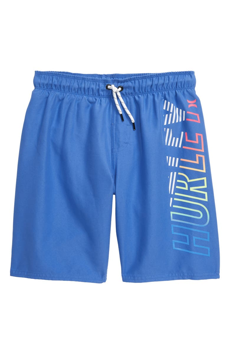 HURLEY On Shore Pull-On Swim Trunks, Main, color, PACIFIC BLUE