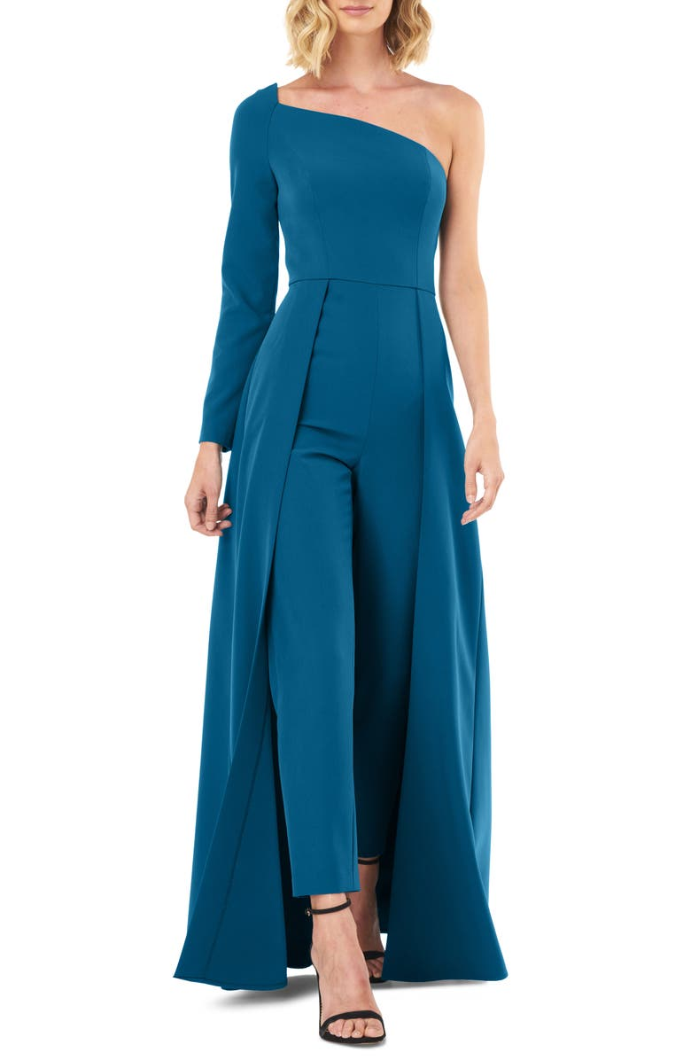 KAY UNGER One-Sleeve Maxi Romper, Main, color, PERSIAN BLUE