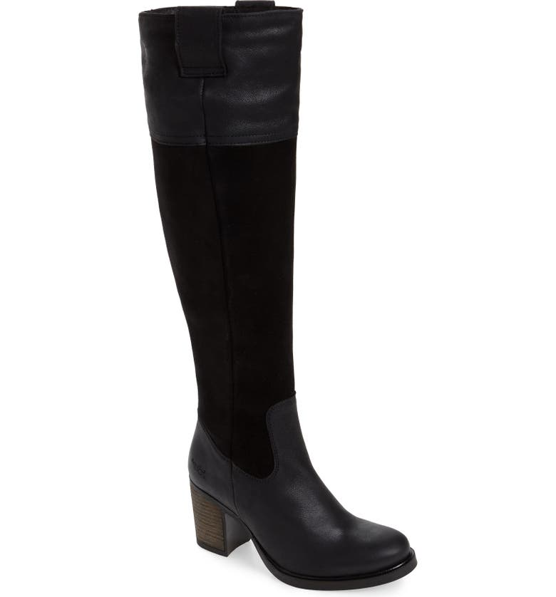 BOS. & CO. Billing Suede Over the Knee Boot, Main, color, BLACK SUEDE