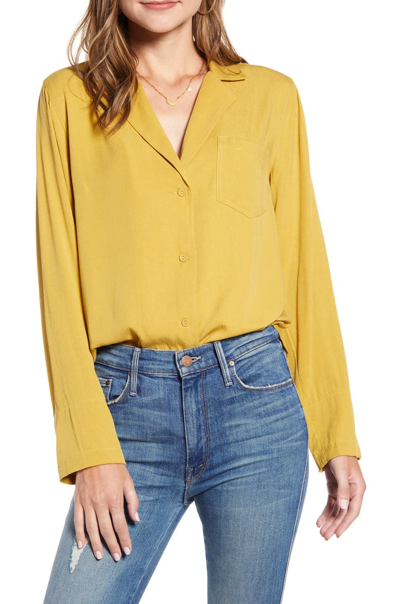 THE ODELLS Relaxed Button-Up Shirt, Main, color, 701