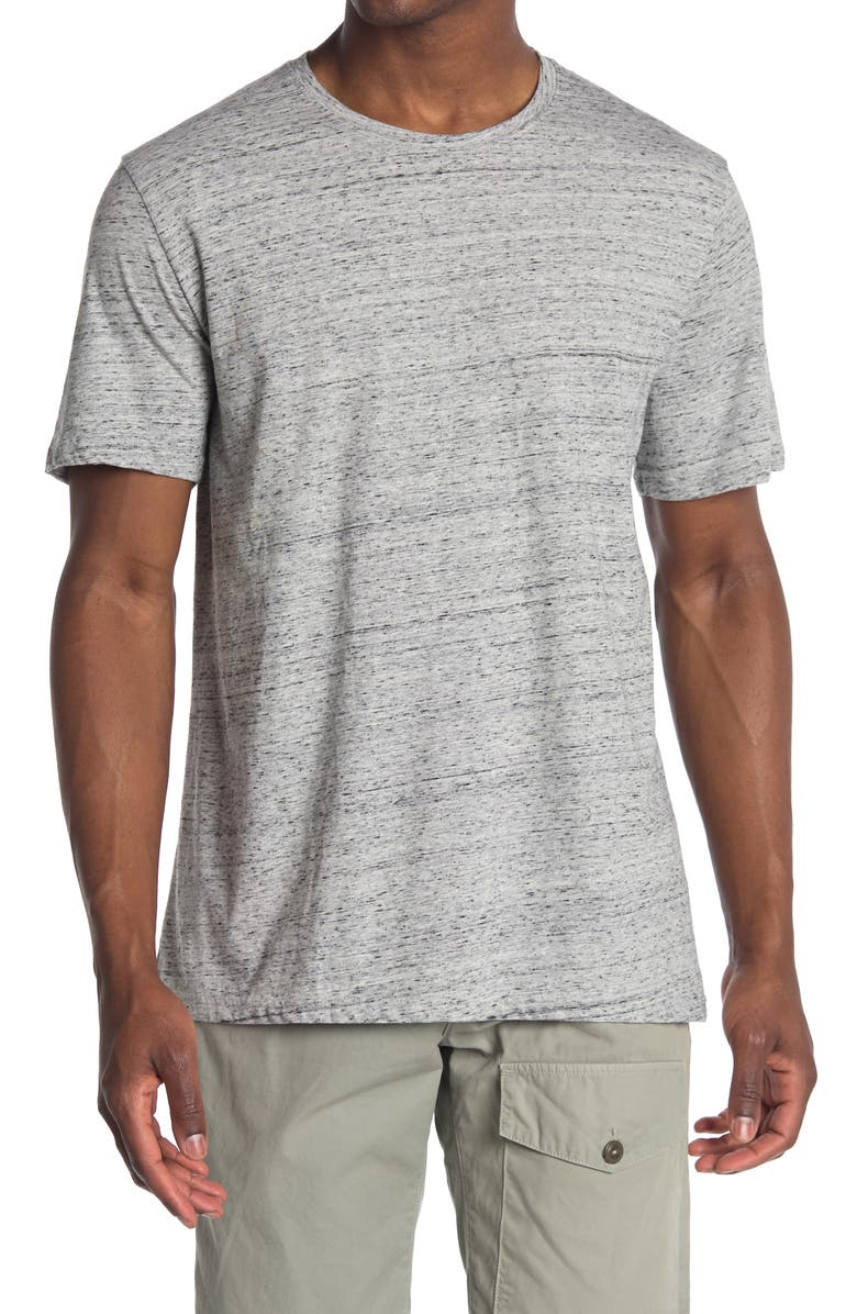 ABOUND Heathered Crew Neck Short Sleeve T-Shirt, Main, color, GREY REVERSE CHILL HTHR