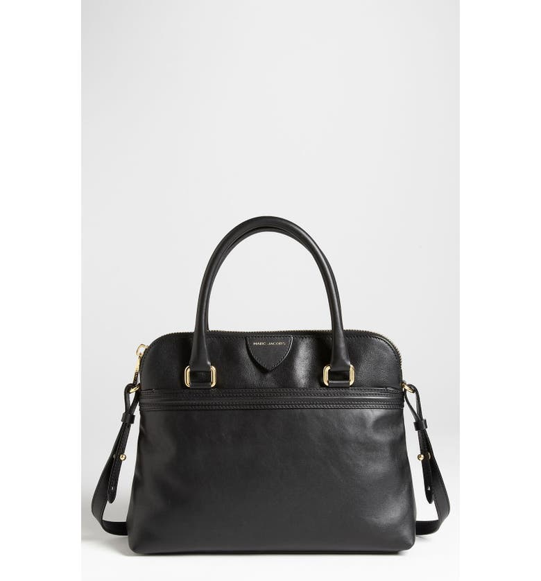 MARC JACOBS 'Raleigh Preston' Leather Satchel, Main, color, 001
