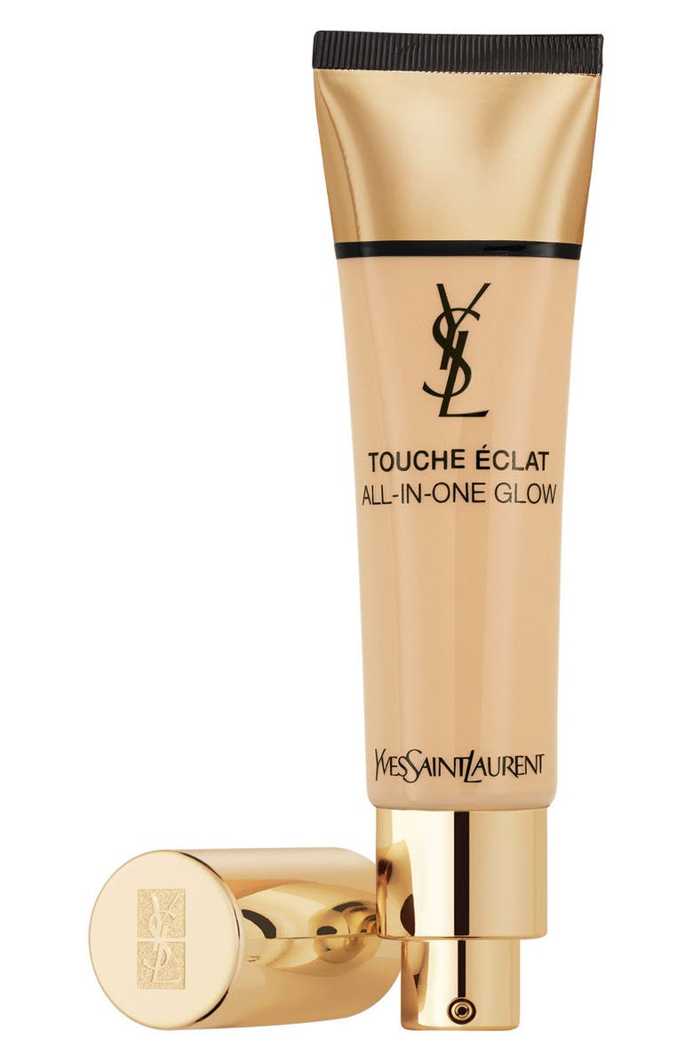 YVES SAINT LAURENT Touche Éclat All-In-One Glow Liquid Foundation Broad Spectrum SPF 23, Main, color, B30 ALMOND