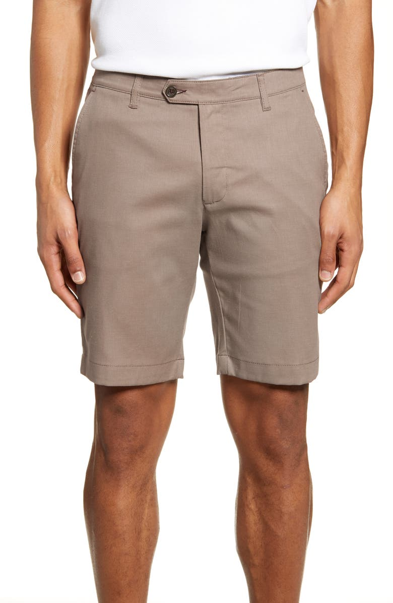 TED BAKER LONDON Cortrom Slim Fit Shorts, Main, color, TAN
