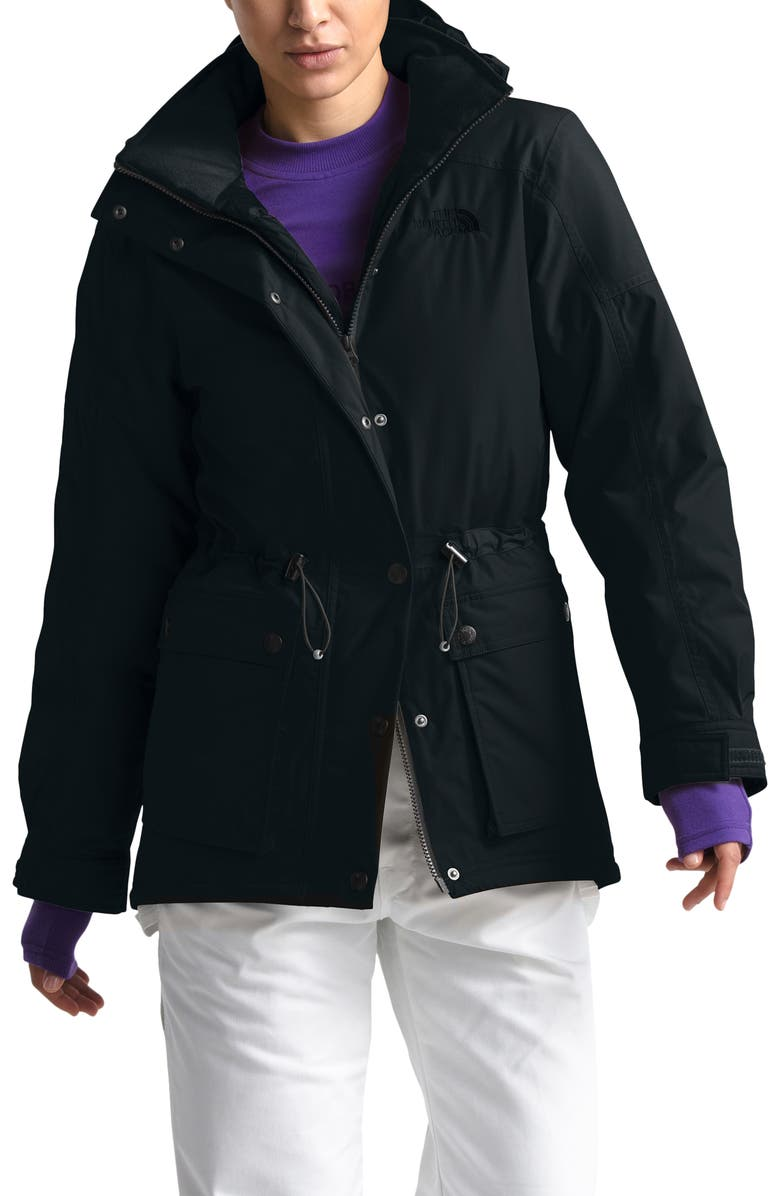 THE NORTH FACE Reign On 550 Fill Power Down Hooded Parka, Main, color, 001