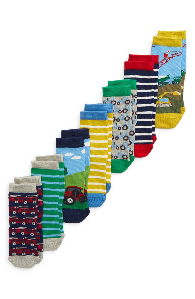 BODEN Kids' Assorted 7-Pack Crew Socks, Main, color, 400