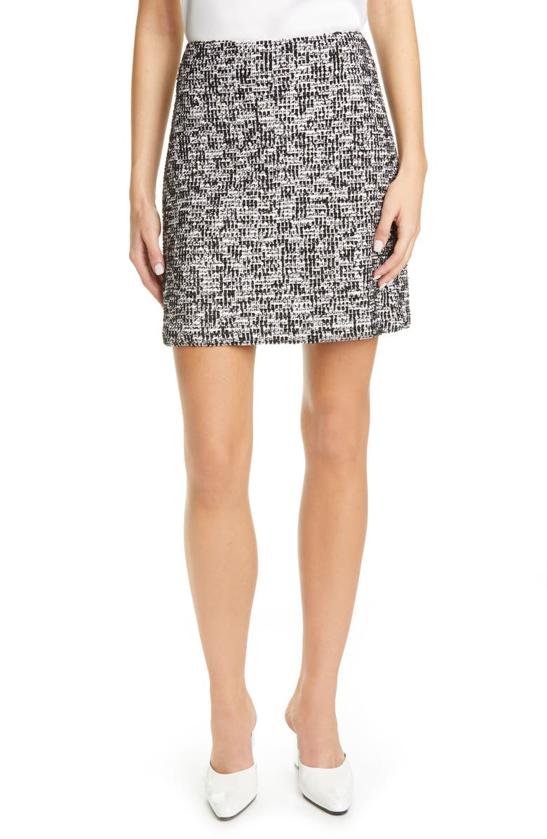ST. JOHN COLLECTION Modern Statement Tweed Skirt, Main, color, 100